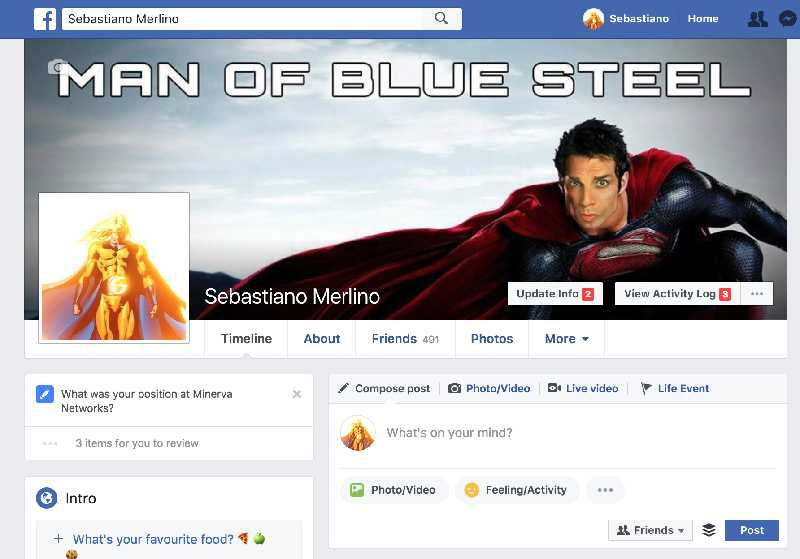 Sentry on facebook profile