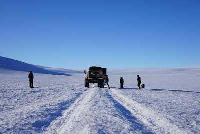 walking on glaciers