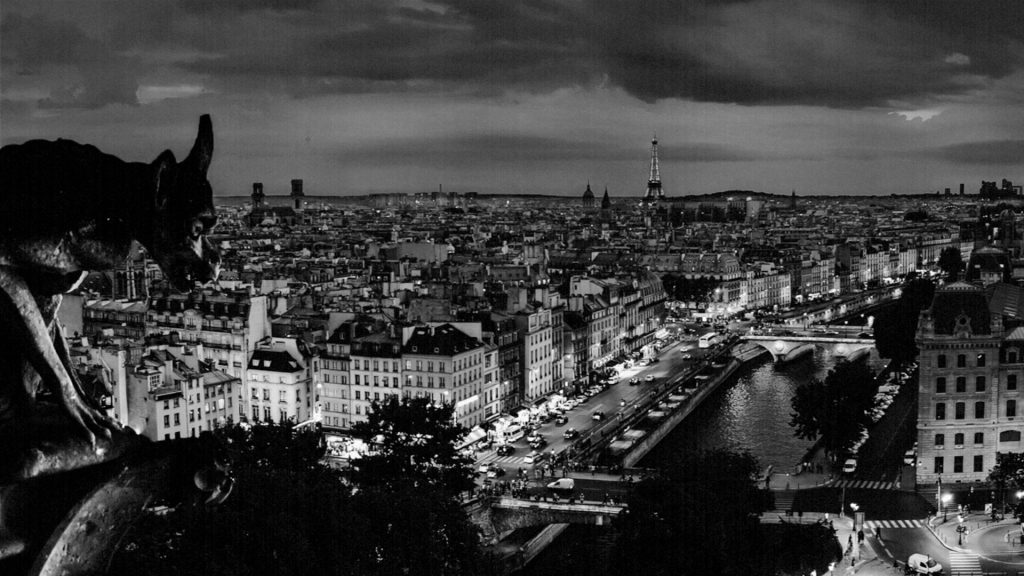 Paris during night. Seven Kinds of Darkness.